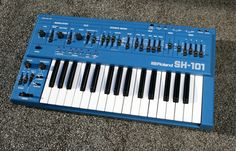 Blue Roland SH 101 Synthesizer with Filter & Modulation Ins Vintage Synth, Sound Engineer, Drum Machine, Music Production, Getting To Know You, Bending, Electronic Music, Playing Guitar, Musical Instruments
