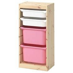 IKEA - TROFAST, Storage combination with boxes, light white stained pine white/p. - Ikea DIY - The best IKEA hacks all in one place Ikea Trofast Storage, Toy Storage, Storage Boxes, Cube Storage, Childrens Storage Furniture, Nursery Furniture, Kids Furniture, Children Storage, Child Room