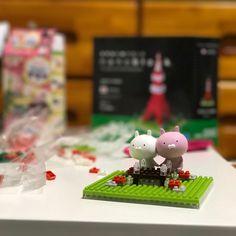 nanoblock(´ω`*)  #東京タワー #ナノブロック #カナヘイ #うさまる #可愛い #大変だった #楽しかった #写真 #写真好きな人と繋がりたい #tokyotower #nanoblock #kanahei #usamaru #cute #kawaii #photography #photo #picture #instalike #instagood