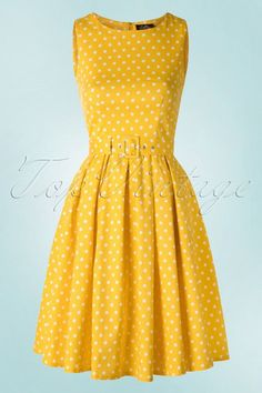1879a8a72a1 Dolly and Dotty Lola Classic Polkadot Dress in yellow 102 89 18321 02172016  008W Petticoats