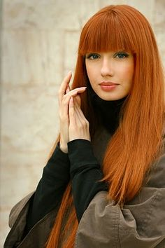 Copper red ginger hair color