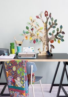 Totem Tree - nice to assemble with kids and looks cute in any room Gift For Architect, Shops, Kids Store, Tree Designs, Totems, Tree Of Life, Decoration, Planer, Gifts For Kids