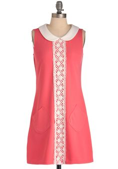 Mod for Fun Dress. Keep your fashion as vibrant and charming as your sparkling personality by sporting this '60s-inspired frock from UK-based Yumi! #pink #modcloth