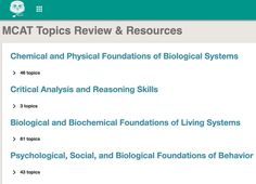 Redesigned MCAT topic review collection! https://www.mcat.me/review/