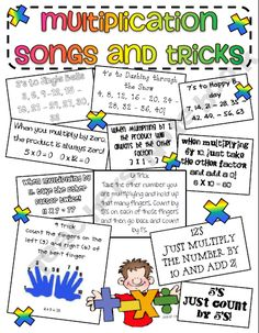 Multiplication Song & Tricks-3rd....not sure about the 12's trick, maybe I'm reading it incorrectly.