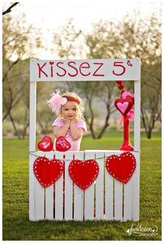 Valentines Day Mini Session Kissing Booth, not too sure how happy Daddy would be about this! Super cute <3