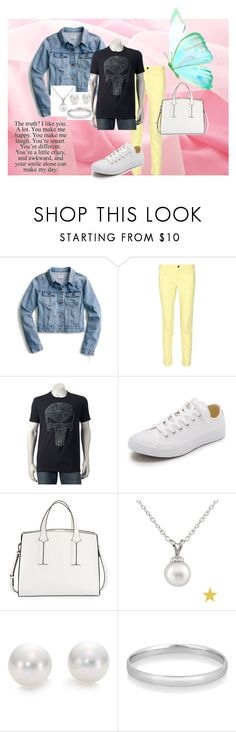 """""""beauty and the beast"""" by missleera on Polyvore featuring J.Crew, 10 Crosby Derek Lam, Converse, French Connection, Splendid Pearls and Mikimoto"""