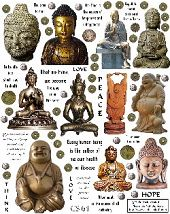 Collage sheets. Asian Icons