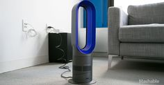 Dyson's new Hot + Cool bladeless heater fan can keep you warm in the winter and provide cool air in the summer.