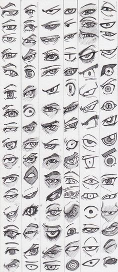 Learn to draw eyes - reference pictures - # learning - . - Learn to draw eyes – reference pictures – – drawings of people Eye Drawing Tutorials, Drawing Techniques, Drawing Tips, Drawing Ideas, Sketch Ideas, Painting Tutorials, Art Tutorials, Pencil Art Drawings, Art Drawings Sketches