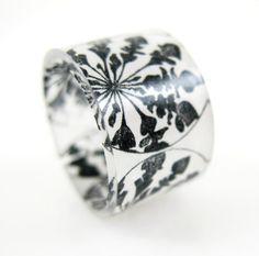 Danelion Rosette Ring, Handmade custom plastic ring