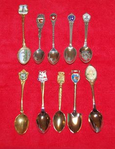 LOT of 10 Collector Souvenir Spoons  T442 by StetsonCollectibles