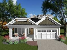 ePlans Ranch House Plan – Ranch With Unique Rooflines – 1334 Square Feet and 2 Bedrooms from ePlans – House Plan Code