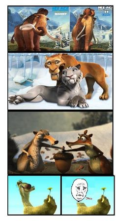 Ice Age couples and sid