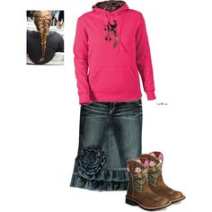 A fashion look from February 2014 featuring Ariat boots, Under Armour and Rock Revival. Browse and shop related looks.
