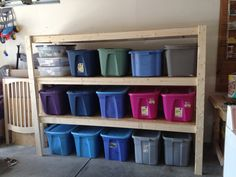 Garage storage, for all our camping stuff