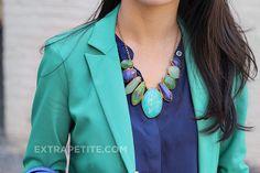 Mint, gingham & Stella & Dot Serenity Stone Necklace