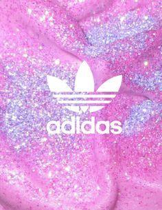 Adidas #glitter #pink #purple