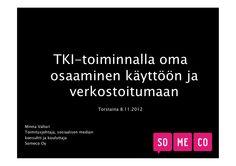 Somecon Minnan esitys Turun AMK:n TKI-päivässä