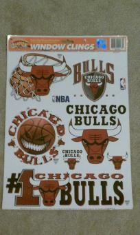 "CHICAGO BULLS LICENSED NBA DECAL SHEET 17.5""X11.5"" $9.99"