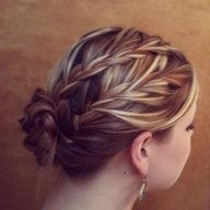 double french braid up do. Love it!!