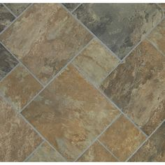 "I like the different sizes. Classic 12"" x 12"" Sedona Slate Cedar Glazed Porcelain Floor Tile $2.18"