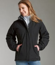 Charles River Apparel 5864 Women's Alpine Jacket is warm enough for almost any occasion.  #outerwear #winterjacket #charlesriverapparel