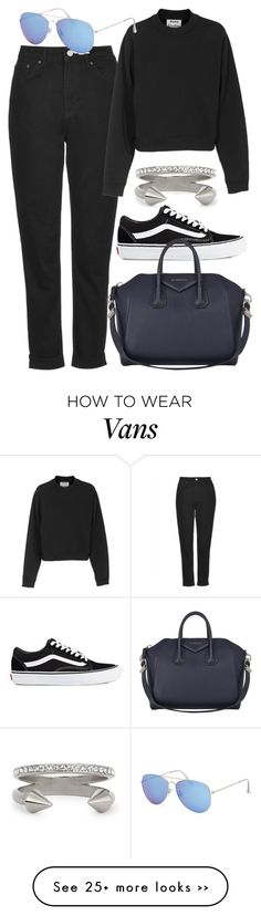 """""""Untitled #4027"""" by style-by-rachel on Polyvore featuring Topshop, Acne Studios, Vita Fede, With Love From CA, Vans and Givenchy"""
