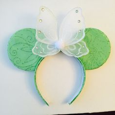 PP TinkerBell Mickey Ears by OnceUponAStitch3 on Etsy