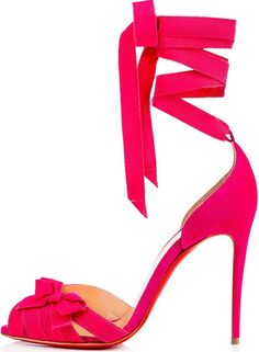 42c27482fc8c Christian Louboutin  Christeriva  100 Bow-Embellished Grosgrain and Suede  Sandals Suede Pumps