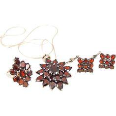 Garnet Jewelry Set Boho Style Sterling Silver 24 ctw 3 pc – Premier Estate Gallery