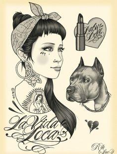 Lowrider Art Girls | brown pride on Tumblr