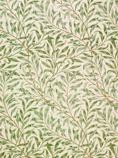 Willow Bough, William Morris, 1887. background, nature
