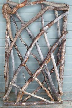 Twig art idea.  Rustic Stickwork Garden Gate, Fence Gate, The Stick Stack #gardengates