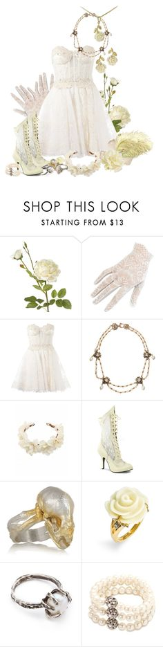 """""""Party Outfit"""" by steampoweredgoth ❤ liked on Polyvore featuring OKA, Zuhair Murad, Stephen Dweck, Funtasma, Philippa Holland, Juicy Couture, Lauren Wolf and Carolee"""