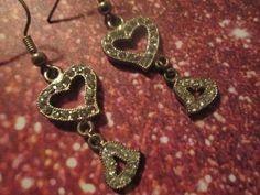crystal heart earrings Heart Earrings, Drop Earrings, Crystals, Jewelry, Heart Pendants, Jewlery, Jewerly, Schmuck, Drop Earring
