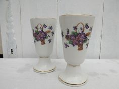 Set Of Two Vintage French Coffee Mugs / Mazagrans