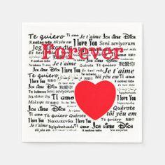 I Love you Forever Napkins I Love You Forever, Party Napkins, Ecru Color, My Love