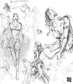 female sketches out of one of my sketchbooks, just for fun