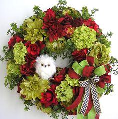 Autumn Wreath Fall Wreath Owl Wreath Halloween by WreathbyHH
