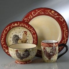 Farmhouse Rooster | review | Kaboodle & French Farm Dinnerware at Horchow. | Table Settings/Gorgeous place ...