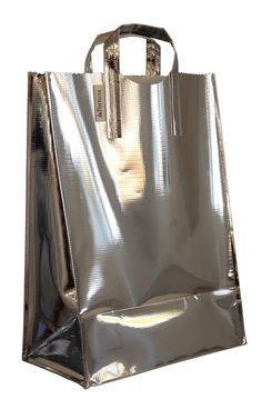 standard tote in silver