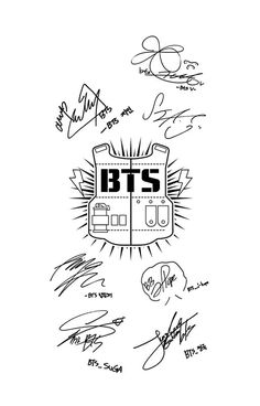 BTS Army + Signatures White v2