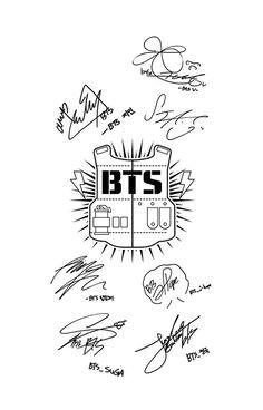 BTS Army + Signatures White v2