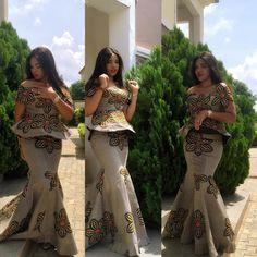 Wow. Beautiful Smart Ankara Skirt And Blouse Styles - DeZango Fashion Zone