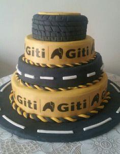 Torta llantas Giti Cake, Desserts, Food, Food Cakes, Tailgate Desserts, Deserts, Kuchen, Essen, Postres