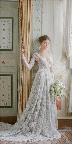 Excellent 107 Best Long Sleeve Lace Wedding Dresses Inspirations https://bridalore.com/2017/12/30/107-best-long-sleeve-lace-wedding-dresses-inspirations/