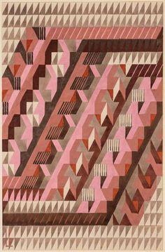"Lena Meyer-Bergner, design no. ""Diagonal"", for a knotted carpet, Geneve, Switzerland. Via Antiquariat Schneider. Kandinsky, Schmidt, Psychedelic Quotes, Illustrator, Mohawk Carpet, Koloman Moser, Lighting Logo, Pattern Photography, Swiss Design"