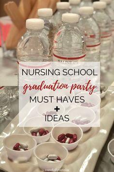 Nursing Graduation Cakes, Nurse Grad Parties, Nurse Party, Graduation Party Foods, Graduation Balloons, Graduation Ideas, Grad Party Favors, Medical Party, Med School