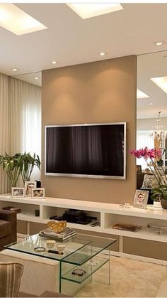 Coastal Home Interior TV unit design ideas.Coastal Home Interior TV unit design ideas Small Living Rooms, Interior, Tv Wall Design, Trendy Living Rooms, Living Room Wall, Modern Tv Unit Designs, Interior Design, Wall Design, Living Room Tv Wall